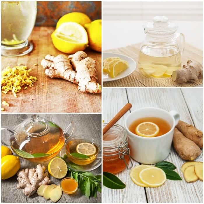 Jengibre con limón y miel