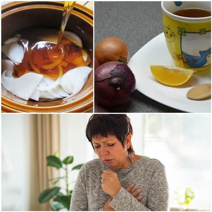 Jarabe de cebolla con miel para el resfriado y la tos
