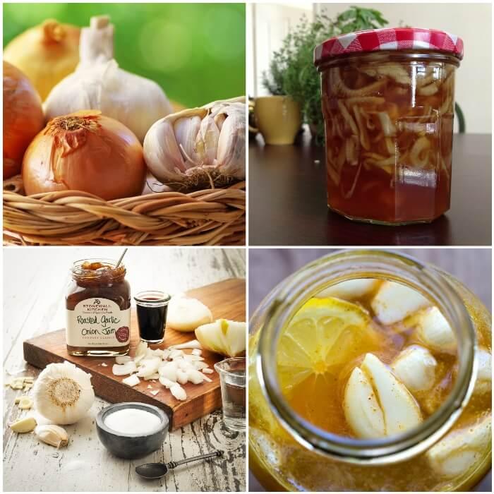 Beneficios de la combinación de ajos y cebollas